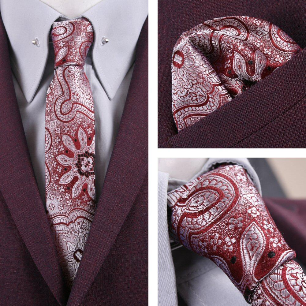 42ee2f0d54ca Knightsbridge Retro Mod 60's Matching Paisley Silk Slim Tie and Pocket  Square Si | Adaptor Clothing