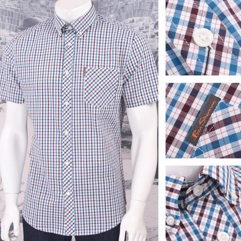 Ben Sherman Mod Retro 60's Button Down S/S House Check Shirt Thumbnail 3