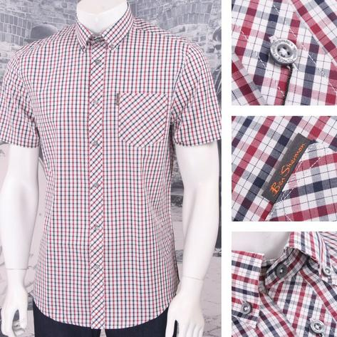 Ben Sherman Mod Retro 60's Button Down S/S House Check Shirt Thumbnail 2
