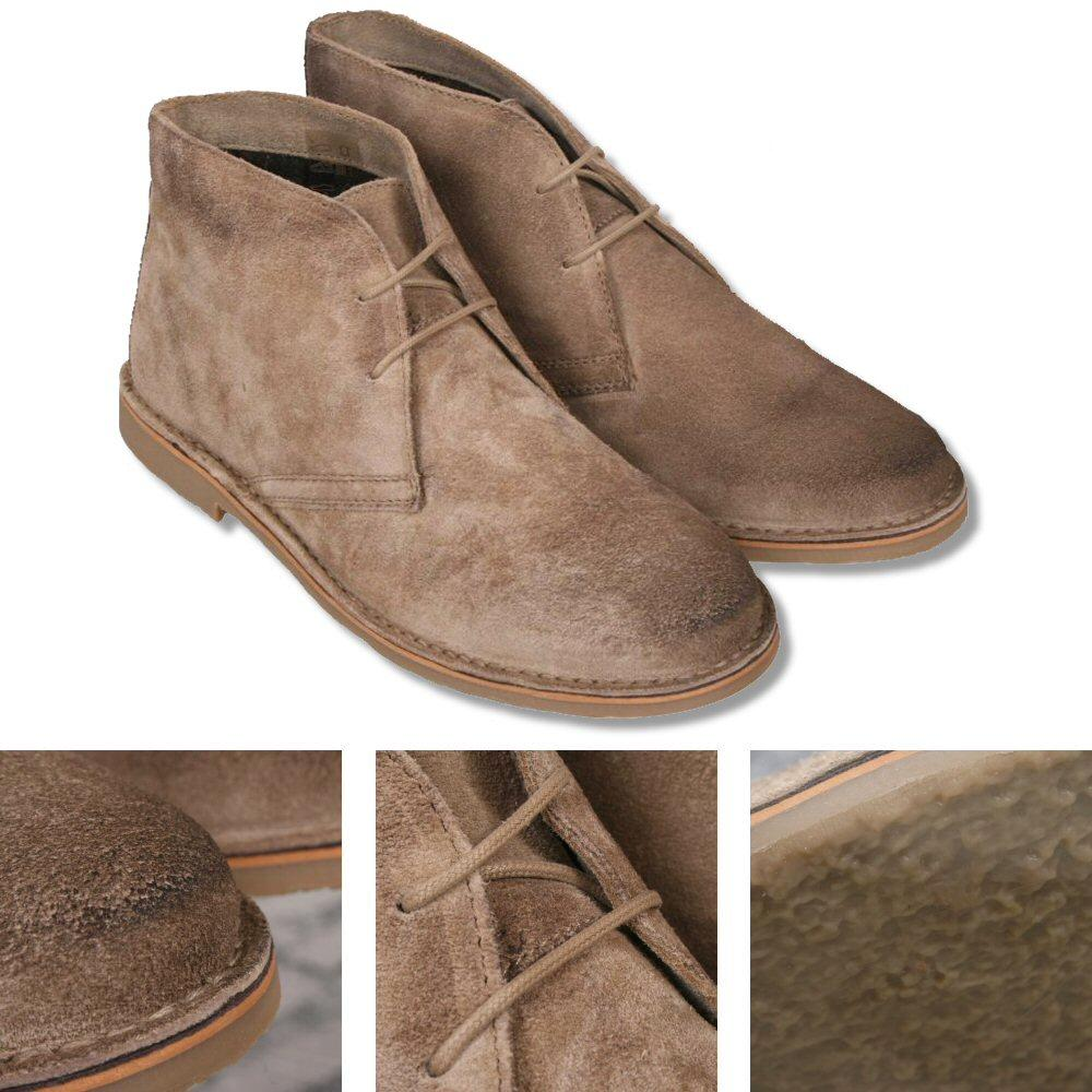 Ikon Originals Mod 60s Retro 2 Hole Suede Desert Boot Taupe
