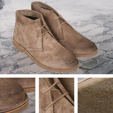 Ikon Originals Mod 60s Retro 2 Hole Suede Desert Boot Taupe Thumbnail 1