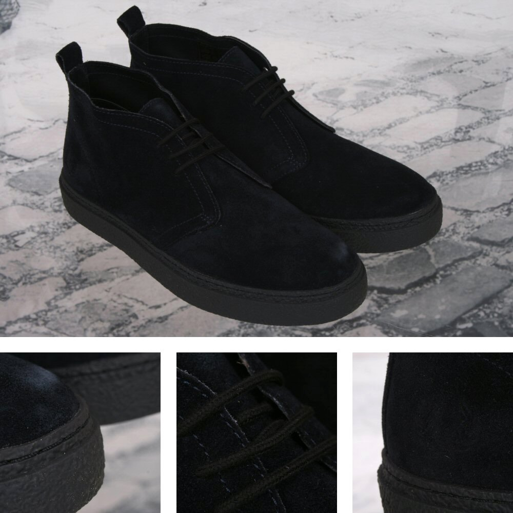 0a3772a861a Fred Perry Mod 60's Retro Thick Sole Suede McQueen Playboy Chukka Boot Navy