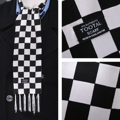 Authentic Tootal 60's Rudeboy 2Tone Fringed 100% Silk Checkerboard Scarf Thumbnail 1