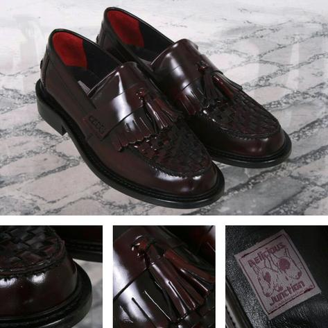 Delicious Junction Locky True Basket Weave Tassel Mod Loafer Shoe Oxblood Thumbnail 1