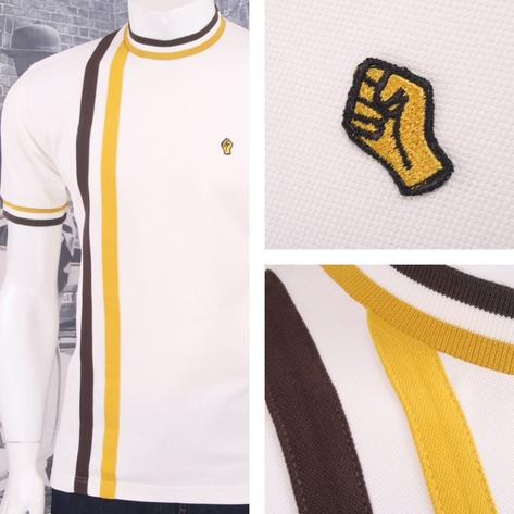 SPECIAL OFFER Wigan Casino Northern Soul Racing Stripe Ringer Turtle Neck T-Shir Thumbnail 3