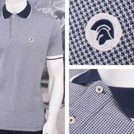 SPECIAL OFFER Trojan Records Limited Edition Retro Dogtooth Jacquard Polo Shirt Thumbnail 3