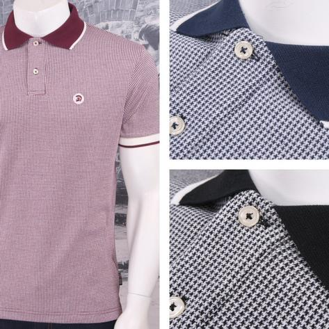 SPECIAL OFFER Trojan Records Limited Edition Retro Dogtooth Jacquard Polo Shirt Thumbnail 1