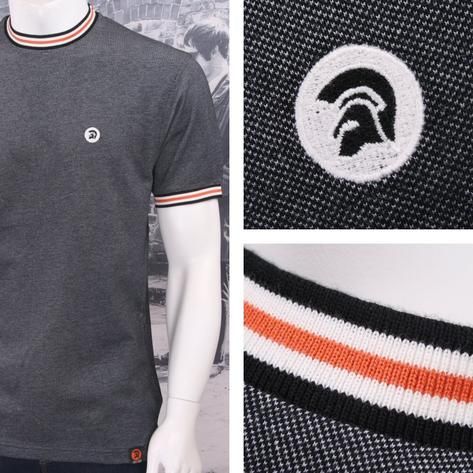 SPECIAL OFFER Trojan Records Skin 60's Two Tone Tonic Pique Tipped Ringer T-Shir Thumbnail 2