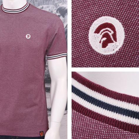 SPECIAL OFFER Trojan Records Skin 60's Two Tone Tonic Pique Tipped Ringer T-Shir Thumbnail 3