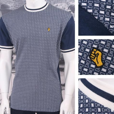 SPECIAL OFFER Wigan Casino Northern Soul Geo Pattern Ringer Turtle Neck T-Shirt Thumbnail 1