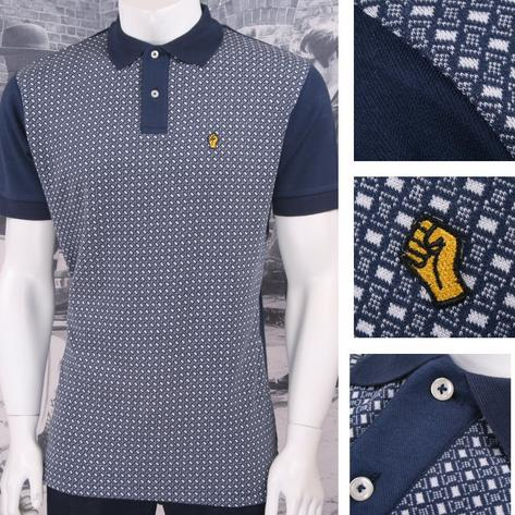 SPECIAL OFFER Wigan Casino Northern Soul Retro Geo Pattern 3 Button Polo Shirt N Thumbnail 1