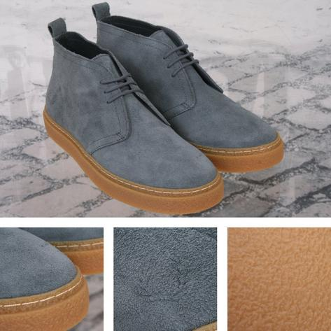 Fred Perry Mod 60's Retro Thick Sole Suede McQueen Playboy Chukka Boot Airforce Thumbnail 1