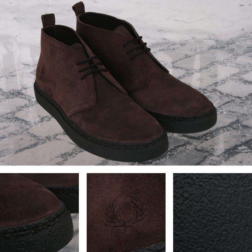 Fred Perry Mod 60's Retro Thick Sole Suede McQueen Playboy Chukka Boot Brown
