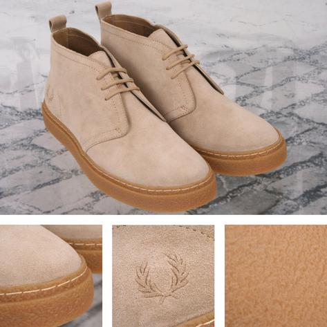 Fred Perry Mod 60's Retro Thick Sole Suede McQueen Playboy Chukka Boot Stone Thumbnail 1