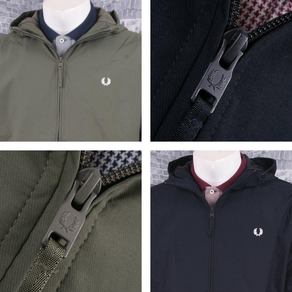 Fred Perry Mod Retro 60's Hooded Cagoule Windbreaker Rain Jacket