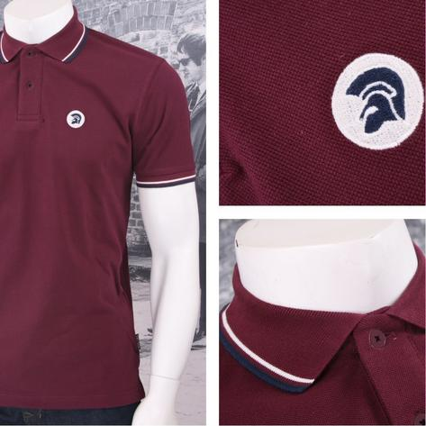 Trojan Records Retro Mod Skin 60's Ska Tipped 2 Button Placket Polo Shirt Thumbnail 4