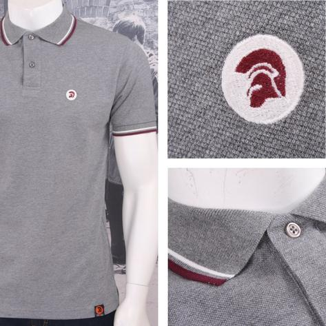 Trojan Records Retro Mod Skin 60's Ska Tipped 2 Button Placket Polo Shirt Thumbnail 2