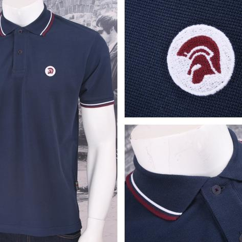 Trojan Records Retro Mod Skin 60's Ska Tipped 2 Button Placket Polo Shirt Thumbnail 3