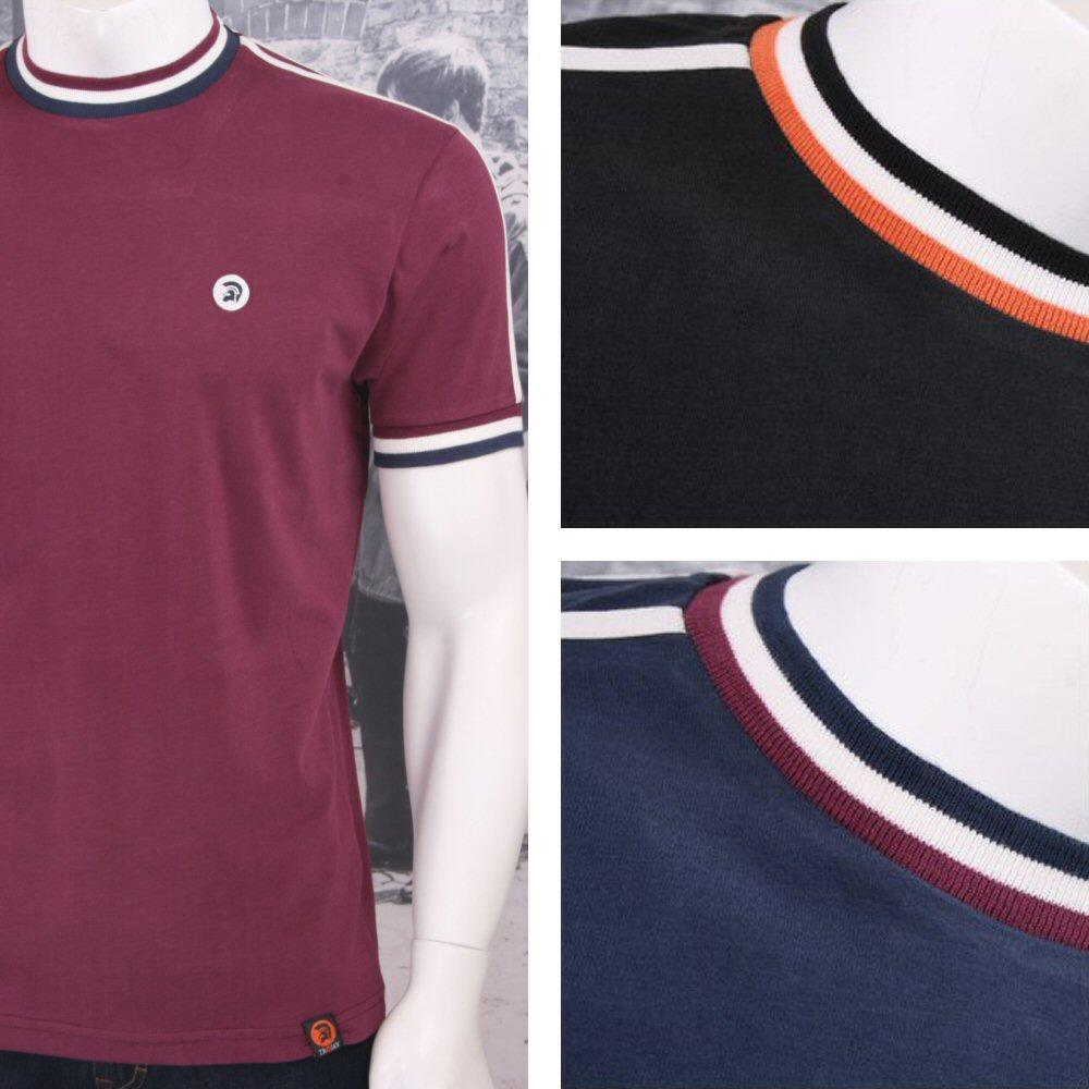Trojan Records Retro Mod Skin 60's Ska Sports Ringer Crew Neck T-Shirt Tee