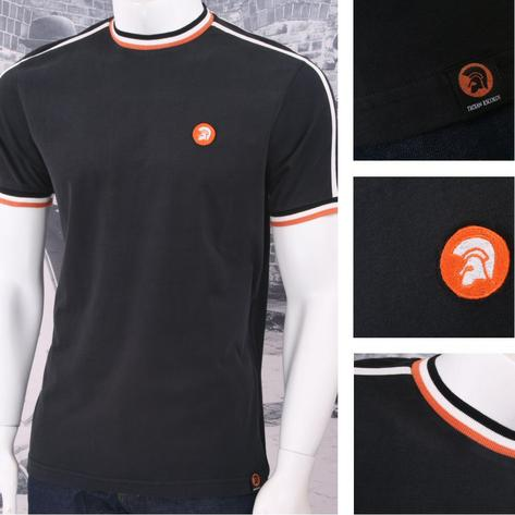 Trojan Records Retro Mod Skin 60's Ska Sports Ringer Crew Neck T-Shirt Tee Thumbnail 3