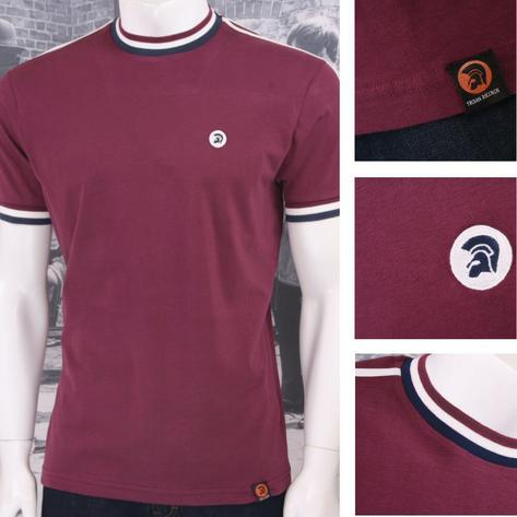 Trojan Records Retro Mod Skin 60's Ska Sports Ringer Crew Neck T-Shirt Tee Thumbnail 2