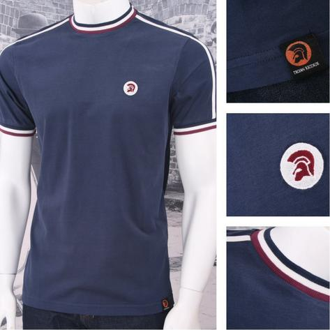 Trojan Records Retro Mod Skin 60's Ska Sports Ringer Crew Neck T-Shirt Tee Thumbnail 4