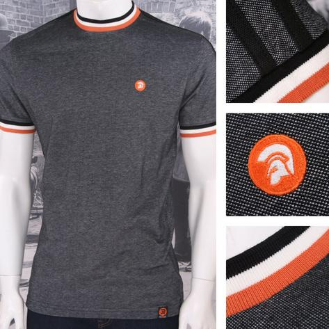 Trojan Records Retro Mod Skin 60's Ska Two Tone Tonic Tipped Ringer T-Shirt Thumbnail 4