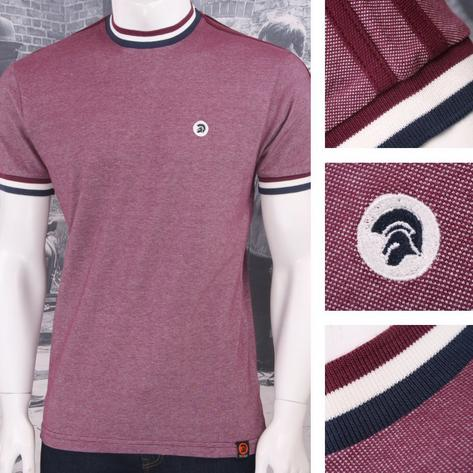 Trojan Records Retro Mod Skin 60's Ska Two Tone Tonic Tipped Ringer T-Shirt Thumbnail 3