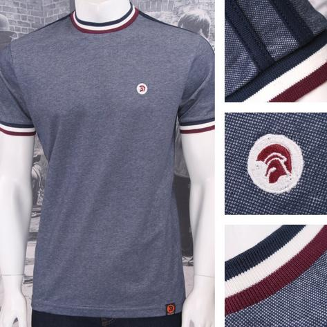 Trojan Records Retro Mod Skin 60's Ska Two Tone Tonic Tipped Ringer T-Shirt Thumbnail 2
