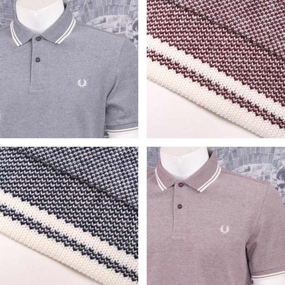 Fred Perry Mod 60's Laurel Wreath Oxford Weave Pique Tipped Polo Shirt