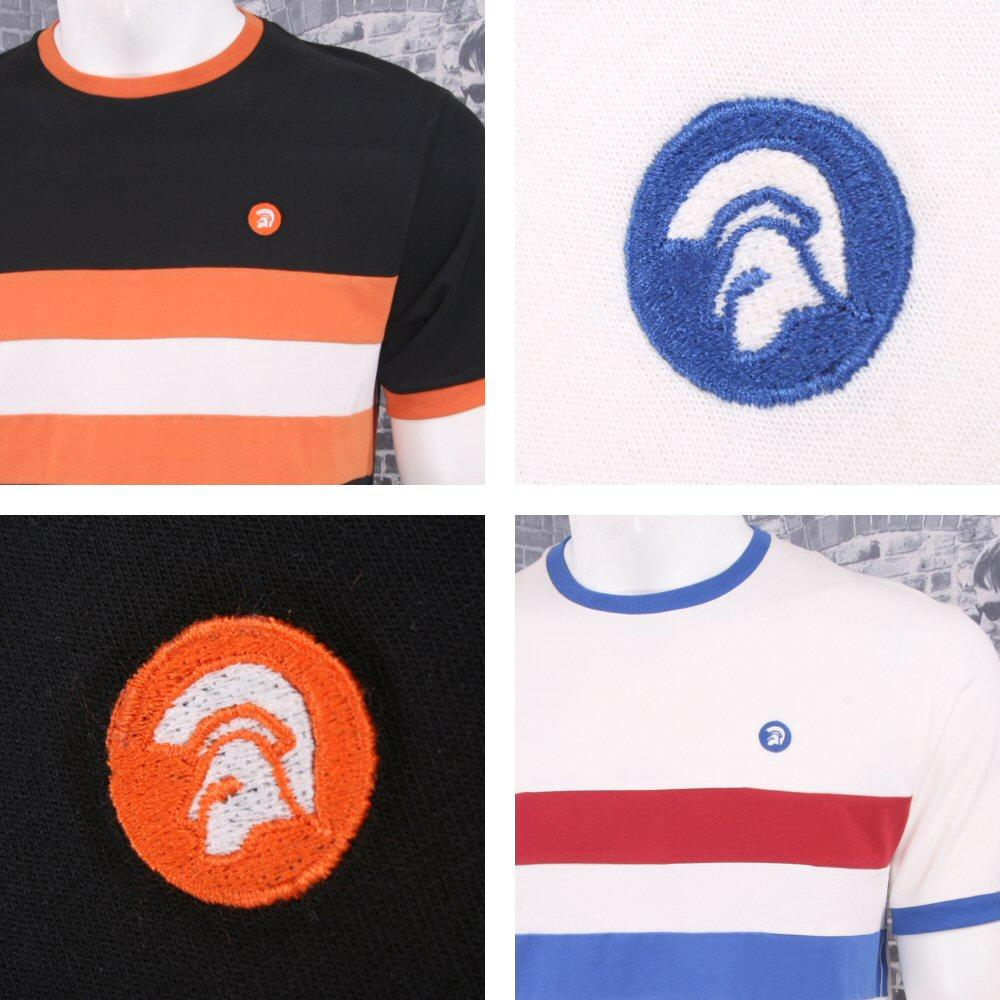 Trojan Records Retro Mod 60's Horizontal Stripe Ringer Sports Top T-Shirt