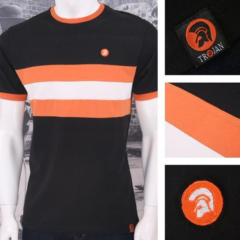 Trojan Records Retro Mod 60's Horizontal Stripe Ringer Sports Top T-Shirt Thumbnail 2