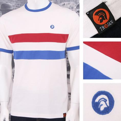 Trojan Records Retro Mod 60's Horizontal Stripe Ringer Sports Top T-Shirt Thumbnail 3