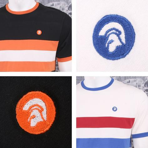 Trojan Records Retro Mod 60's Horizontal Stripe Ringer Sports Top T-Shirt Thumbnail 1