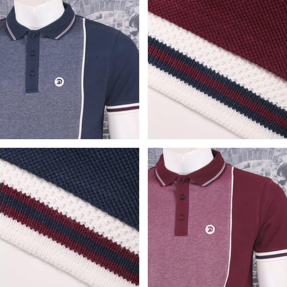 Trojan Records Retro Mod Skin 60's Two Tone Tonic Panel Pique Polo Shirt