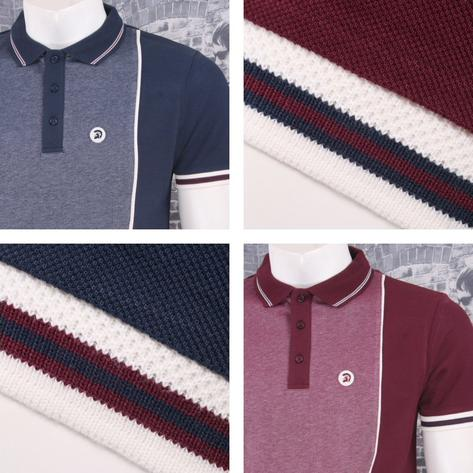 Trojan Records Retro Mod Skin 60's Two Tone Tonic Panel Pique Polo Shirt Thumbnail 1