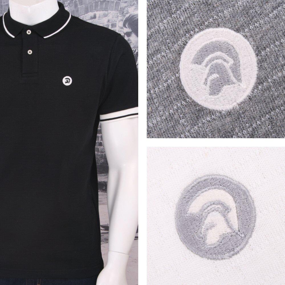 58fcef95d Trojan Records Retro Mod Skin 60 s Brick Texture Knit Tipped Polo Shirt  Thumbnail 1 ...