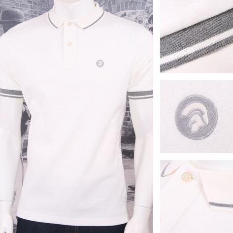 Trojan Records Retro Mod Skin 60's Brick Texture Knit Tipped Polo Shirt Thumbnail 4