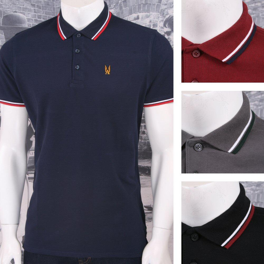 Authentic Aertex Mod 60's Retro 3 Button Pique Twin Tipped Cotton Polo Shirt
