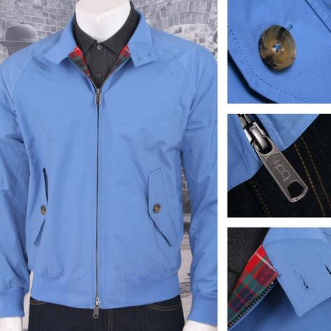 The All New Baracuta G9 Mod SLIM Fit Harrington Jacket Blue Thumbnail 1
