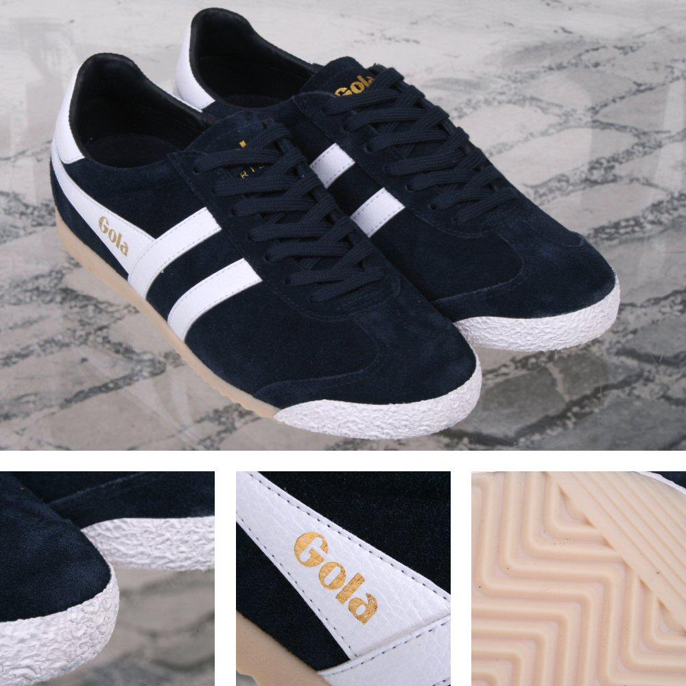 Gola Harrier Special Edition Suede Lace Up Trainer NAVY / White