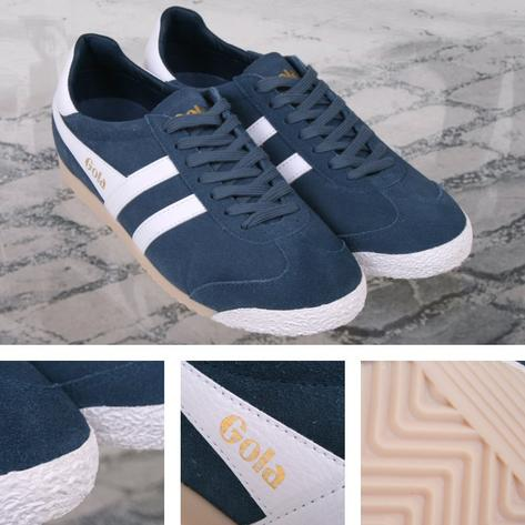 Gola Harrier Special Edition Suede Lace Up Trainer BLUE / White Thumbnail 1