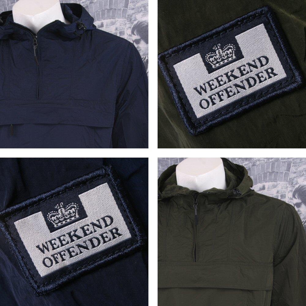 Weekend Offender Retro Casual Terrace Lightweight Zip Cagoule Windbreaker