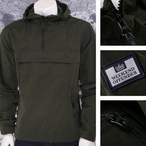 Weekend Offender Retro Casual Terrace Lightweight Zip Cagoule Windbreaker Thumbnail 3