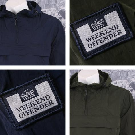Weekend Offender Retro Casual Terrace Lightweight Zip Cagoule Windbreaker Thumbnail 1