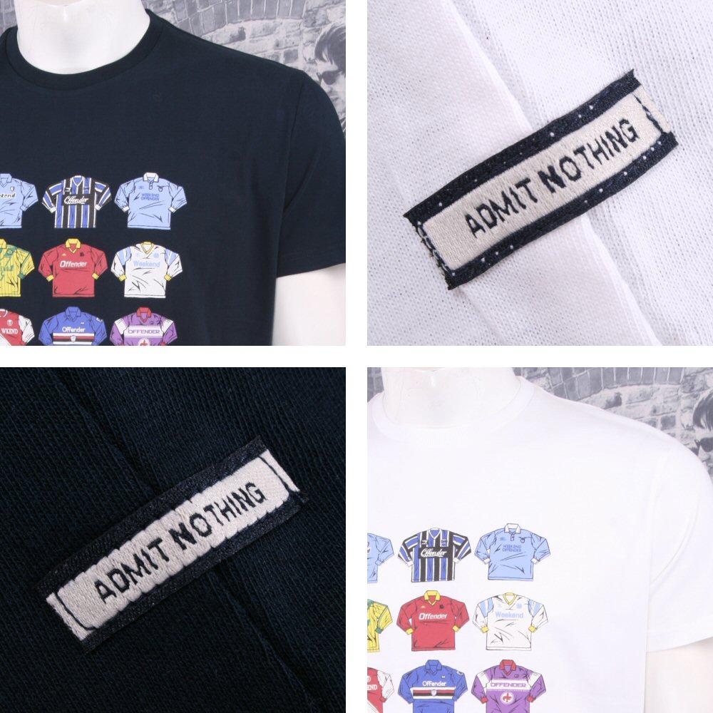 250c8503efb Weekend Offender Retro Casual Terrace Football Strip Shirts Print T-Shirts  Thumbnail 1 ...