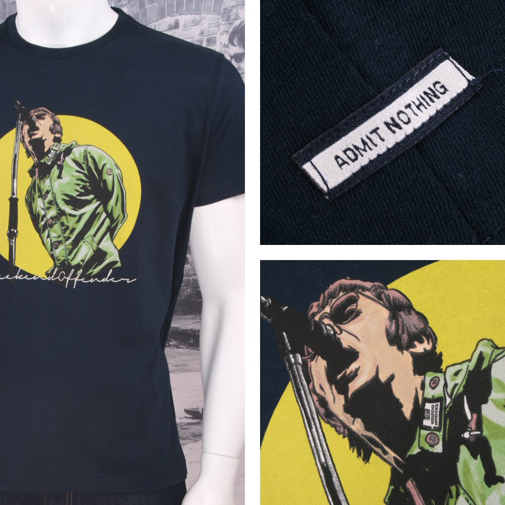 Weekend Offender Retro Nineties Britpop Oasis Liam Gallagher Print T-Shirts fe9ff7c80e21