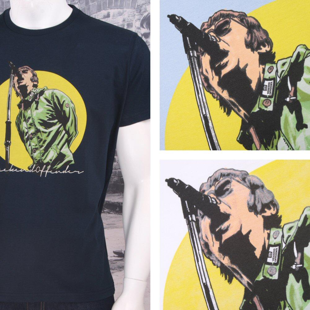 Weekend Offender Retro Nineties Britpop Oasis Liam Gallagher Print T-Shirts