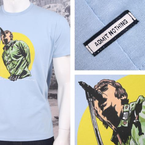 Weekend Offender Retro Nineties Britpop Oasis Liam Gallagher Print T-Shirts Thumbnail 3
