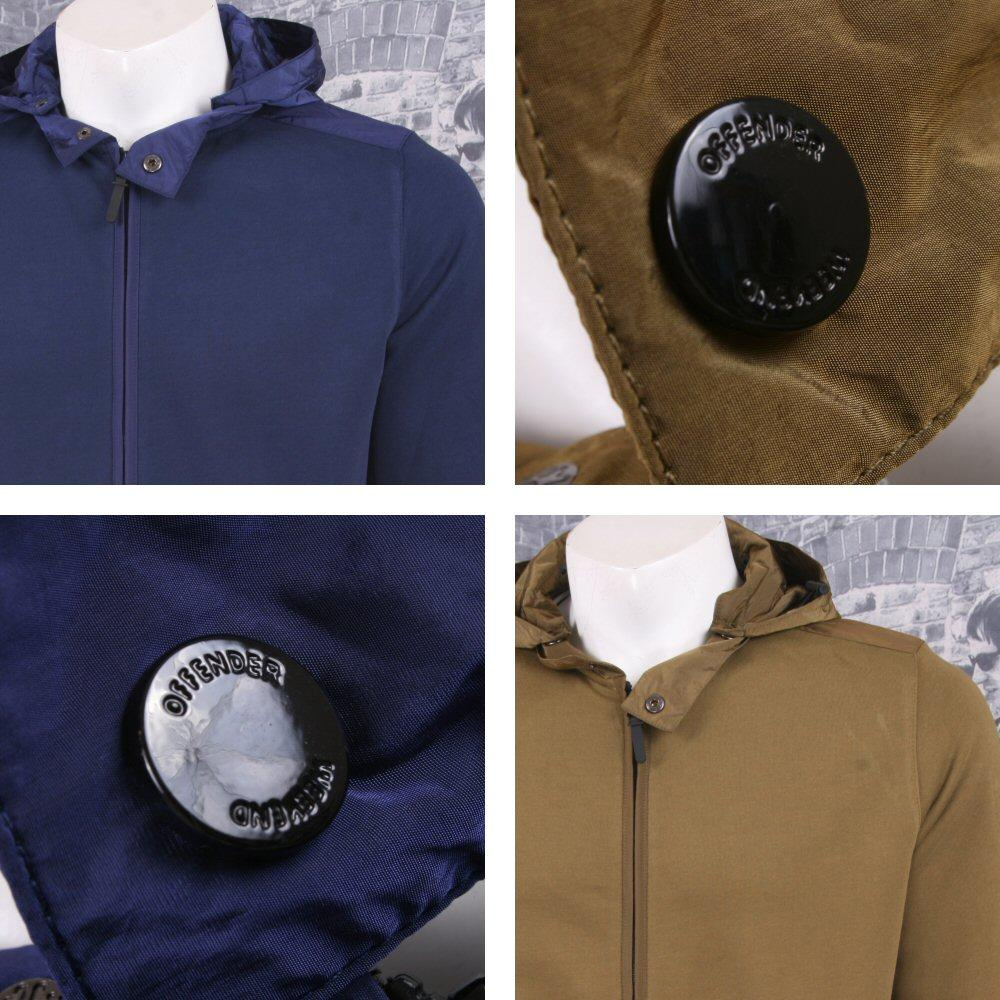 Weekend Offender Retro Casual Terrace Jersey Zip Through Hooded Jumper